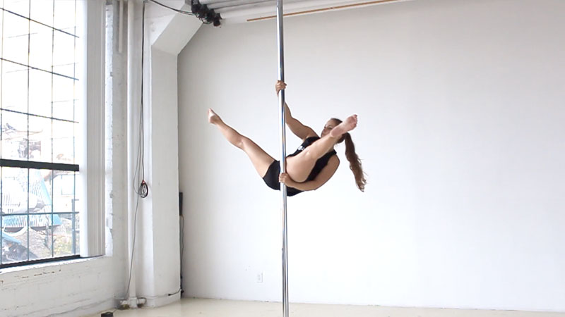 Pole Sit + Wrist Seat + Cross Ankle Release + Reverse Handstand Variation