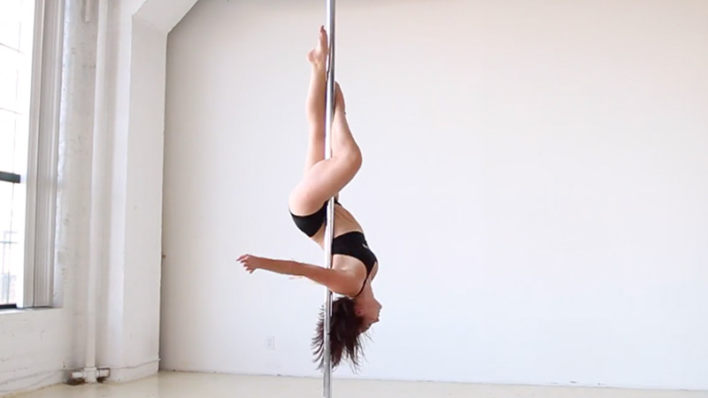 Pole Sit Variation + Cradle + Inside Leg Hang + Outside Leg Hang + Baby Valentine + Hip Hold Tuck + Jasmine + Split Grip Splits + Hood Ornament